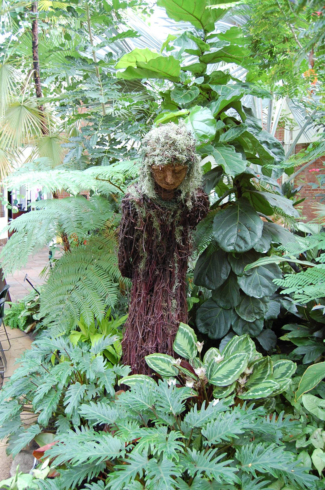 Whispering from the Woods, Nature Art, Nature sculpture, Buffalo and Erie County Botanical Gardens
