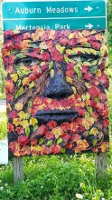 Enchanted trail - Green Man on Sign
